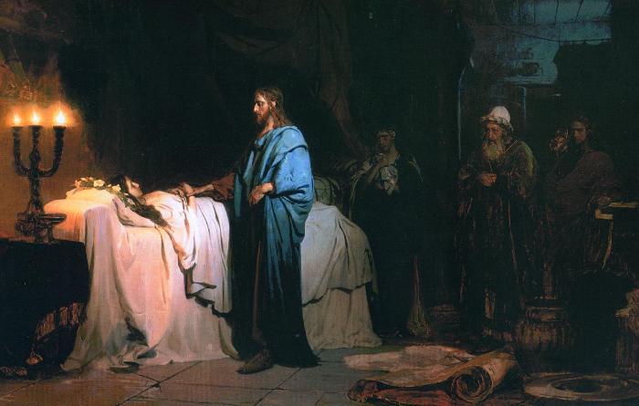 Воскрешение дочери Иаира Репин Картина