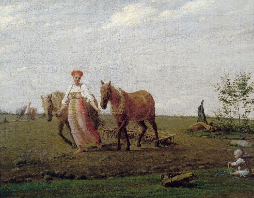 сочинение по картины венецианов алексей гаврилович гумно
