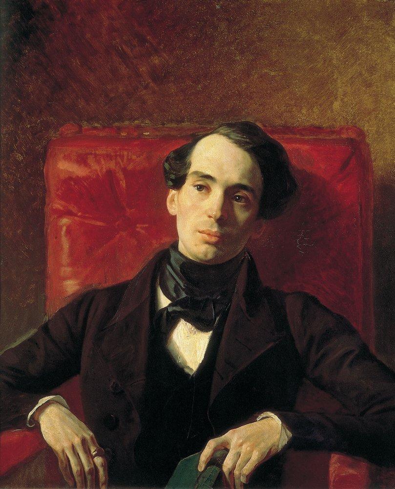 Карл Брюллов (1799-1852). Портрет А. Н. Струговщикова. 1840 г. ГТГ.