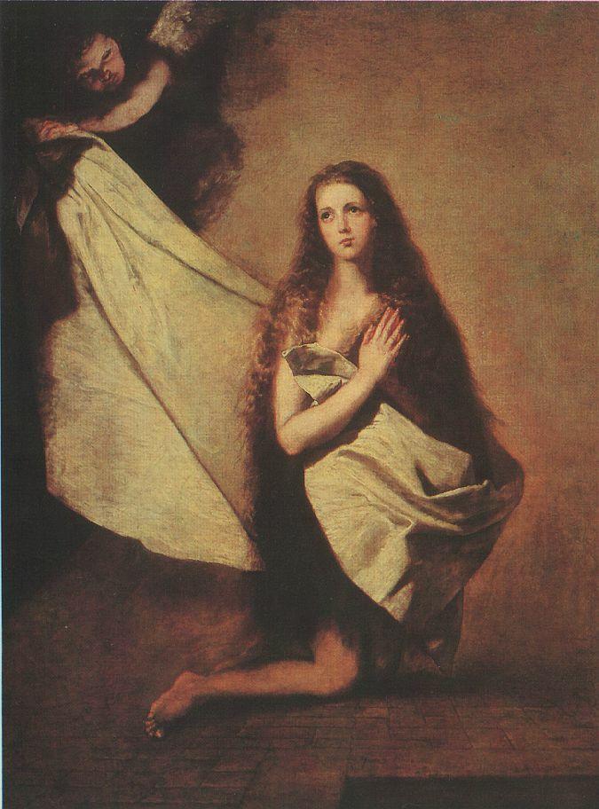 Святая Инесса и ангел, укрывающий ее покрывалом. Хусепе Рибера